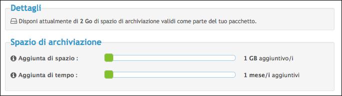 Funzionamento dello spazio di archiviazione Scherm78