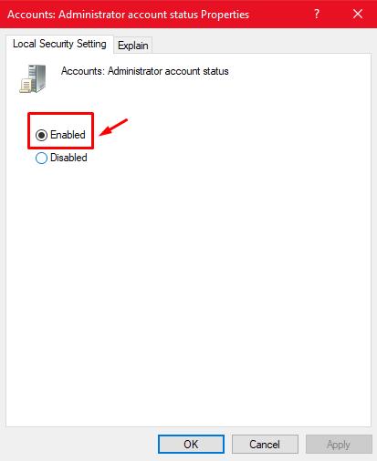 "The hidden ""Super Administrator"" account under Windows 10. Screen13"