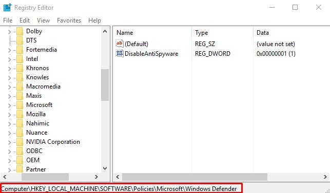 Two ways of disabling Windows Defender under Windows 10. Screen15