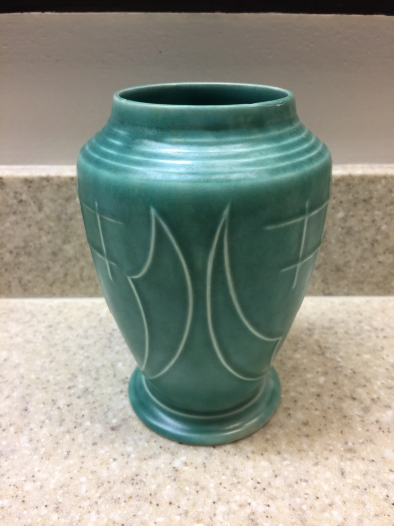 Green vase marked with a genie lamp and England Photo_13