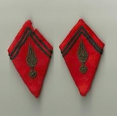 Paire de pattes de col aiglon pour officier d'état-major d'artillerie....Ou pas! Numyri44