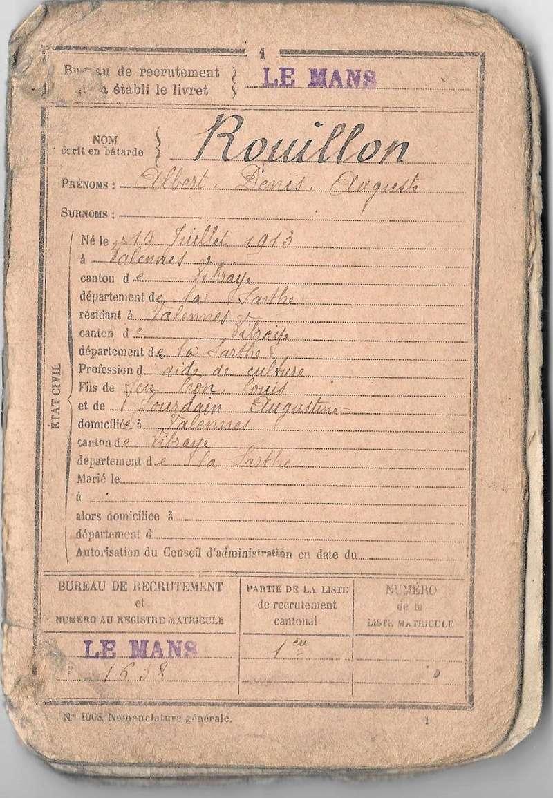 le soldats Rouillon Albert (photo colorisée) Livret11