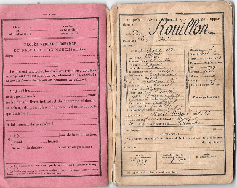 Le soldat Rouillon Léon Denis M à J du 21/12/20 Livret13