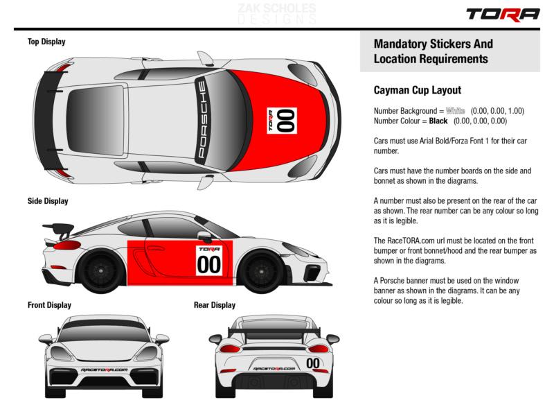 TORA Cayman GT4 Cup - Livery Rules 2020_l11