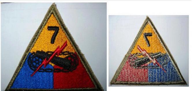 Identification, patch 7 Div US ww2 Captur12