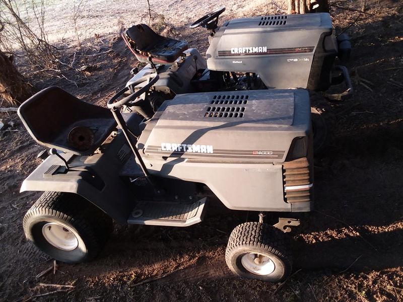 Craftsman LT4000 utility / mower build  20180327