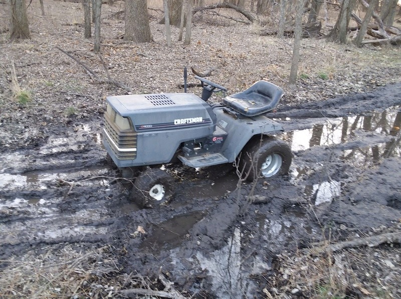 Craftsman LT4000 utility / mower build  20180335