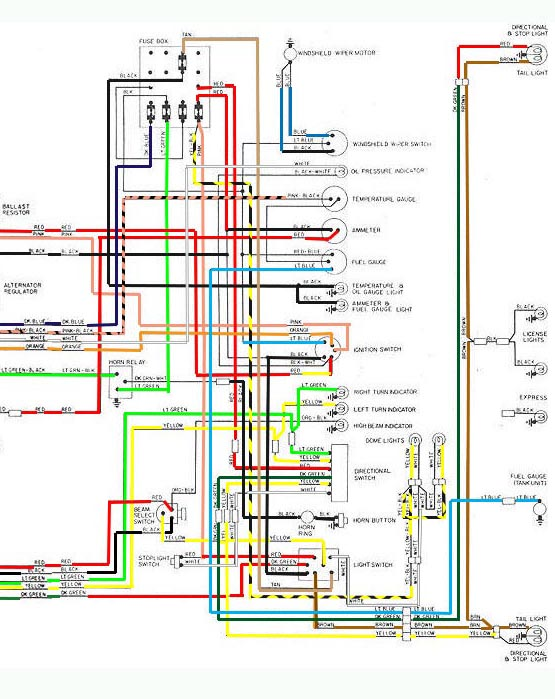 Colored Wiring Diagram For A100 1966