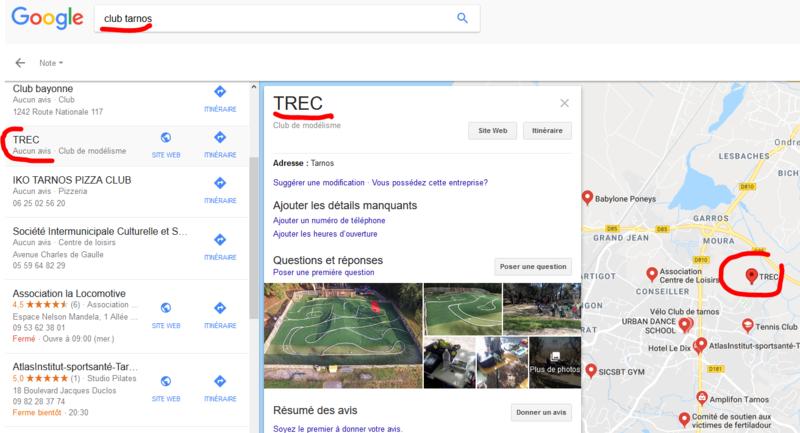 Référencement Internet du TREC dans les moteurs de recherche Captur10