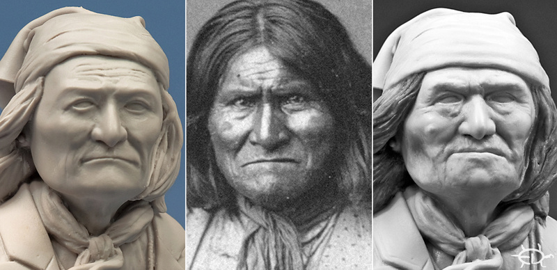 Buste de Geronimo 1/7 transformé (Terminé) Edan_114