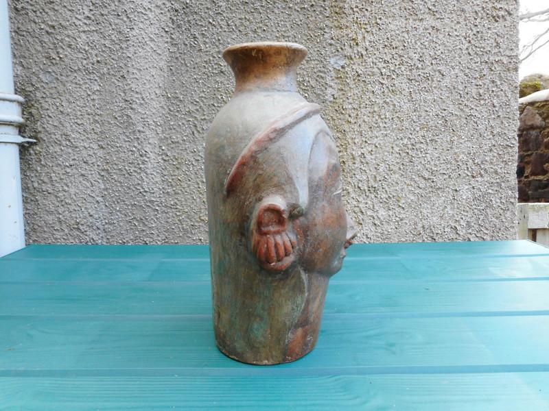Middle Easten ? pottery vase I need help identifying 0210