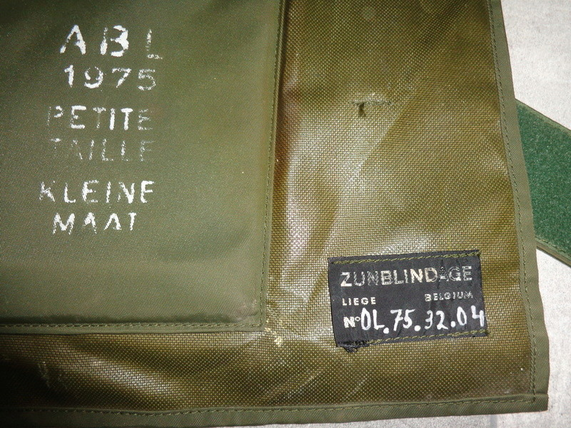 Steel plated body armor, Zunblindage, ABL 1975 marked Dsc04117