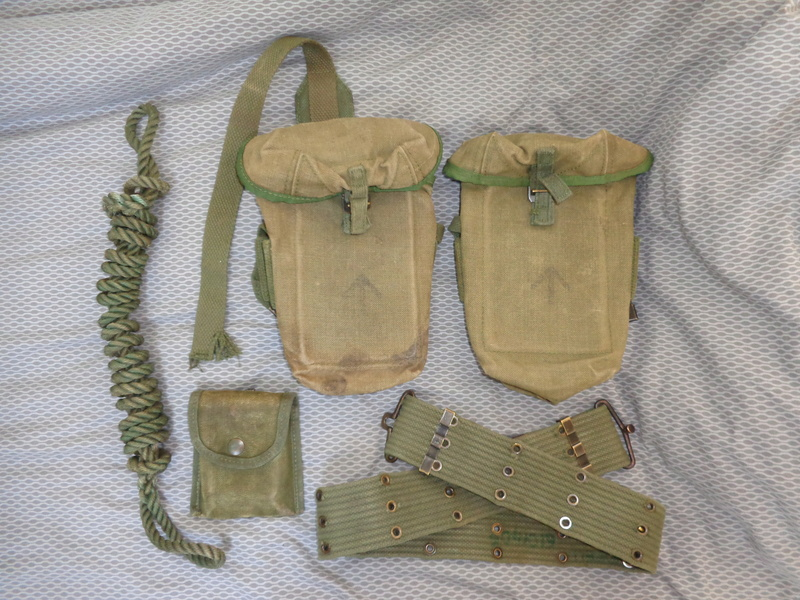 Australian M56 type webbing and Vietnam related uniform stuff Dsc04727