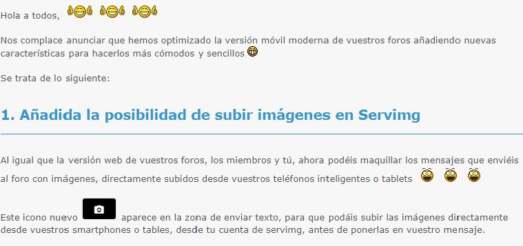 Optimización de la versión móvil Subiri10