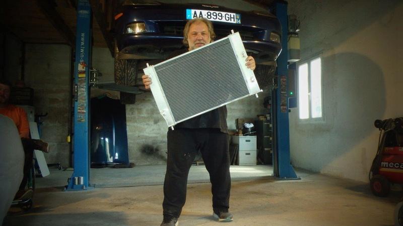 Pose d'un radiateur tout alu GPI Racing 64mm  P4170110