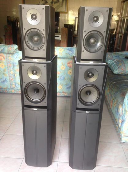 (SOLD)B&W DM'305 n DM'302 prism system speakers Dm110