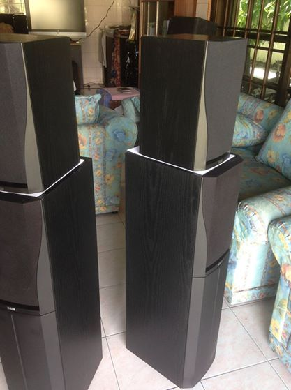 (SOLD)B&W DM'305 n DM'302 prism system speakers Dm810