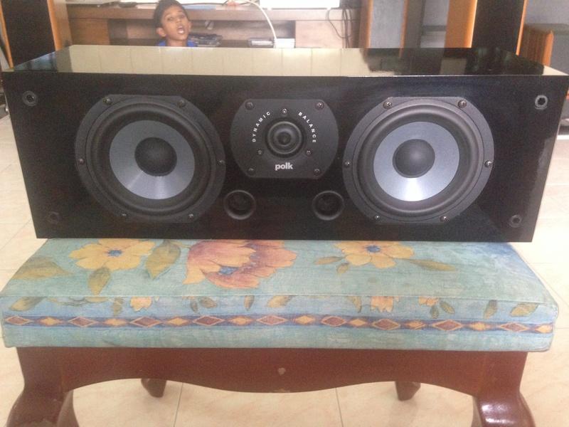 POLK audio LSI 15 tower speakers + LSIC  center speaker  Img_3123