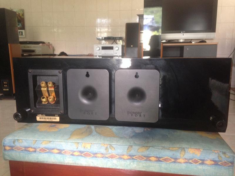 POLK audio LSI 15 tower speakers + LSIC  center speaker  Img_3126