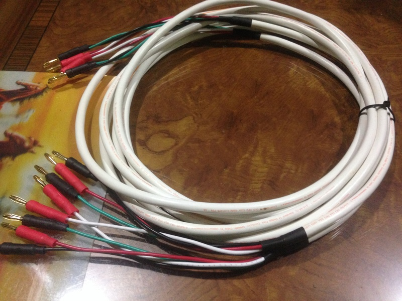 MONSTER speakers cable BIWIRE 2 to 4(new) 12 FEET Img_3924