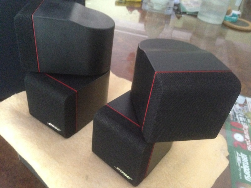 Bose Am5 Series II sub-woofer + 4 Bose Redline Single Cube Img_5521