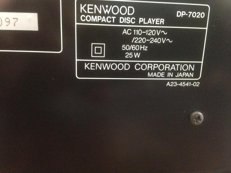 KENWOOD CDP 7020 high-end 2 x Burr-Brown PCM 1701P/ KSS-150A Img_5729