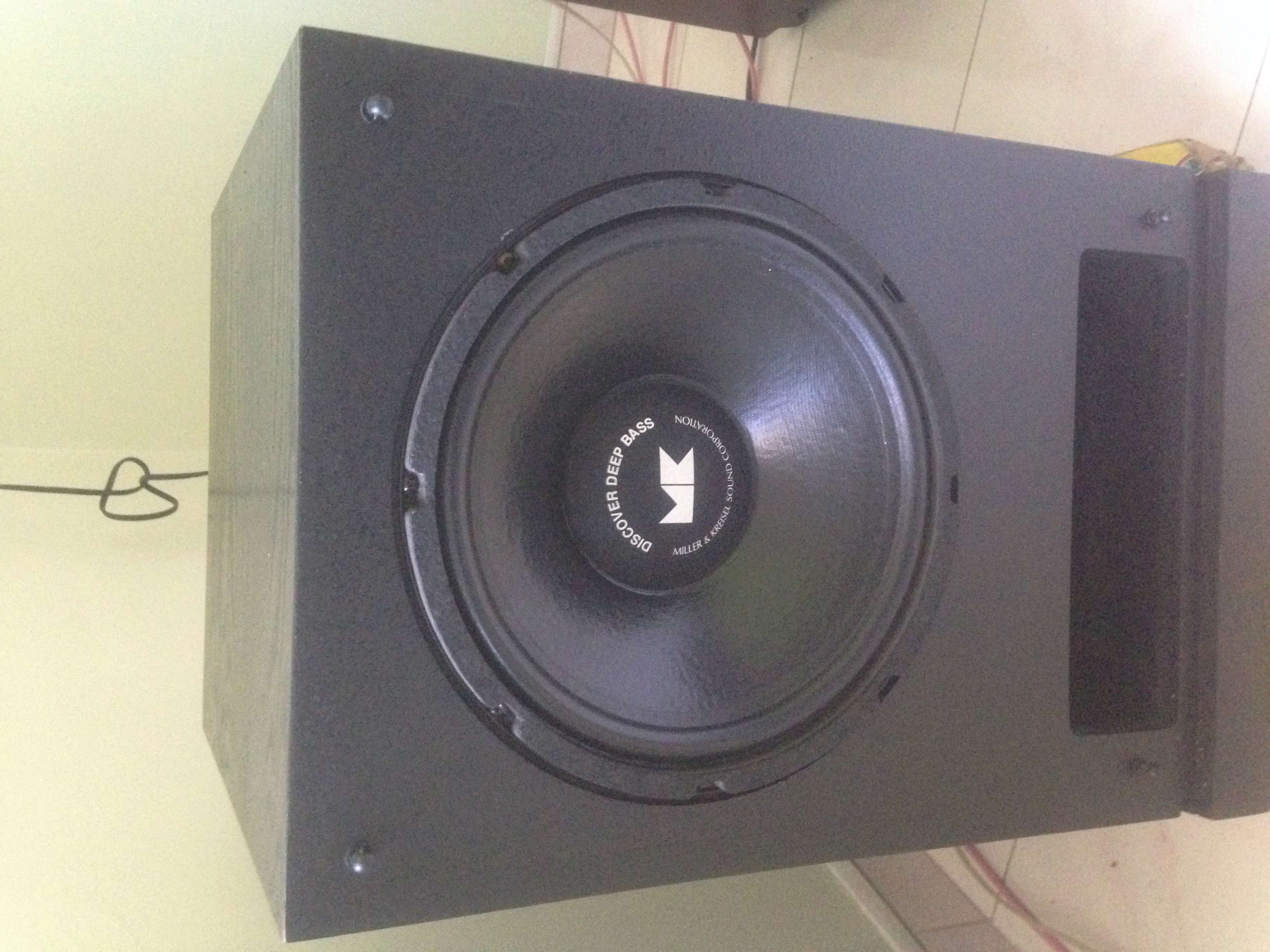 "M&K MX-100 Dual 12"" inch THX Powered Subwoofer(USA) Img_5833"