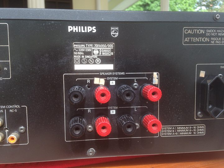 PHILIPS 900 series integrated stereo control amplifier fa950 Ph710