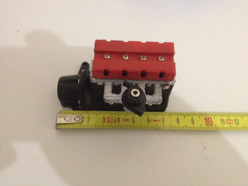 Bloc Moteur V8 et Moteur Cylindrique pour Scale et Crawler 1/10 Img_0926