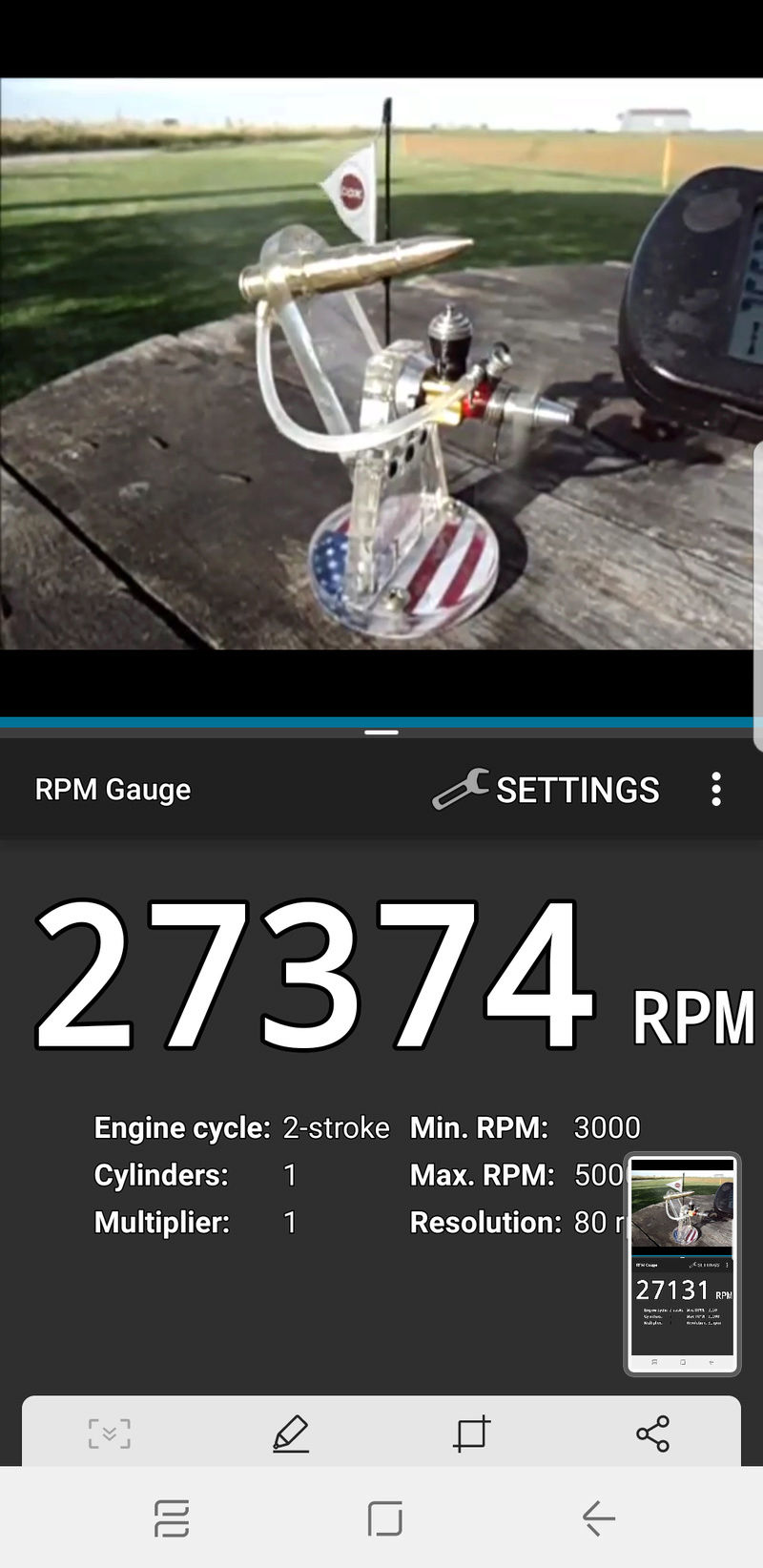 Rpm test in flight videos with Android phones Screen11
