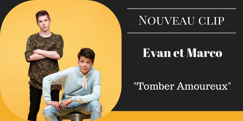 Nouveau clip pour Evan et Marco (The Voice Kids) - Tomber Amoureux