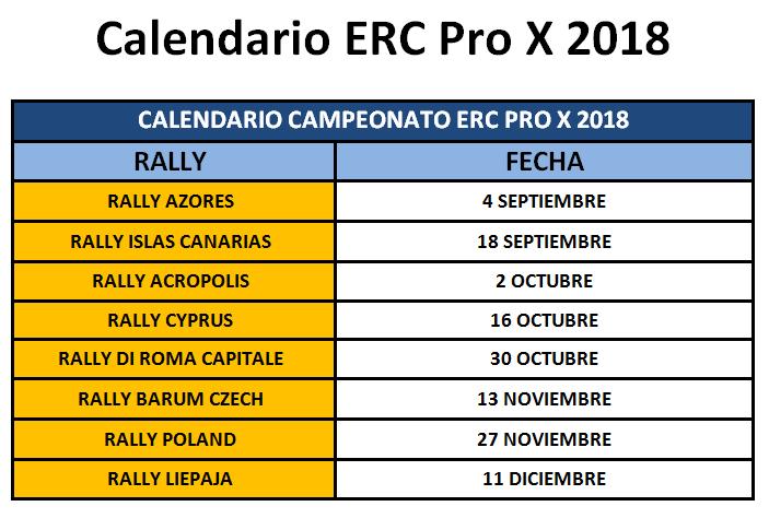 Calendario ERC Pro X 2018  Calend11