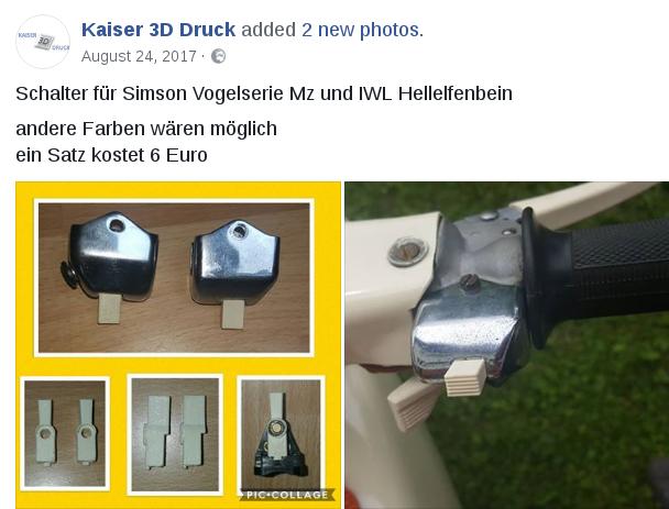 Impression 3D de pièces pour MZ 3d_sch10