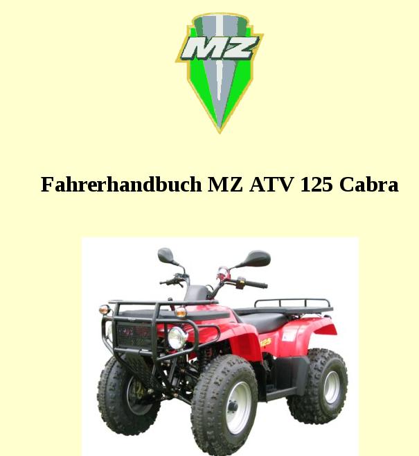 Curiosité : le MZ Quad Atv-1210