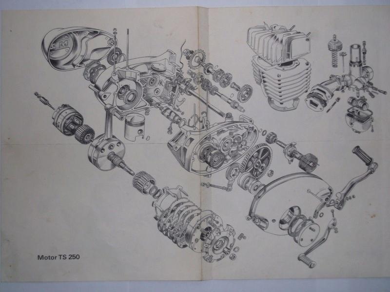 éclaté de boîte 4 vitesses TS 250 S-l16011