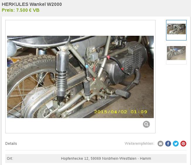 Prototypes MZ à moteur Wankel Wankel11