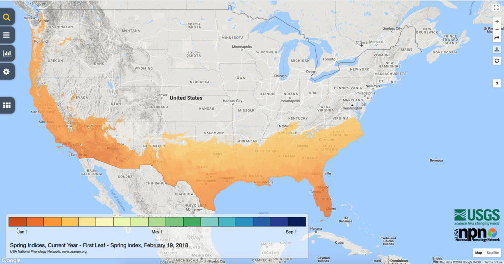 Spring Indices Phenology Map 2018 Thread Screen12