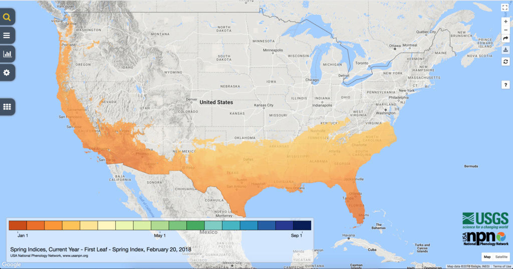 Spring Indices Phenology Map 2018 Thread Screen13