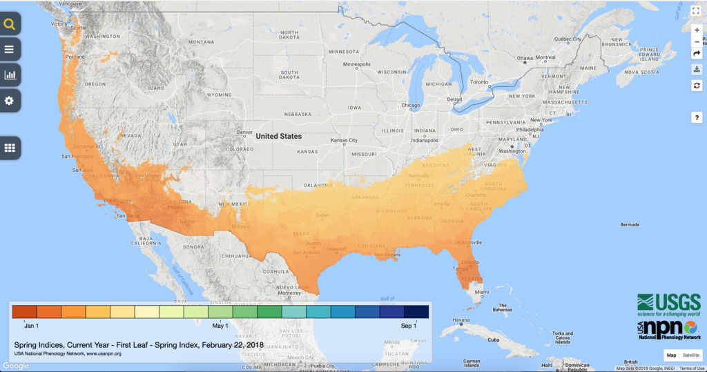 Spring Indices Phenology Map 2018 Thread Screen14