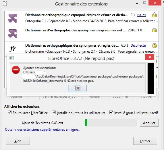 DMaths pour openoffice ou Libre Office Texmat12
