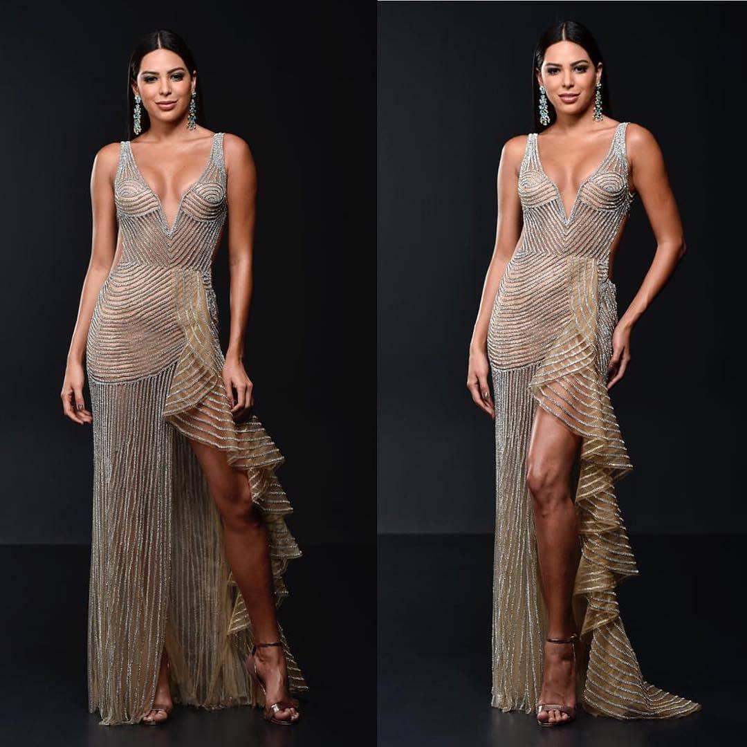 miss brasil va usar este vestido para preliminar e final (sy classificar) de miss universe 2018. 44793010