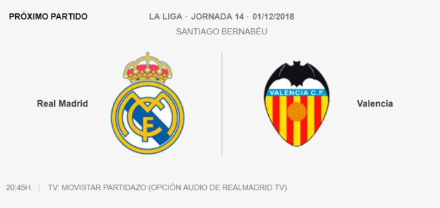 REAL MADRID - VALENCIA 3-011