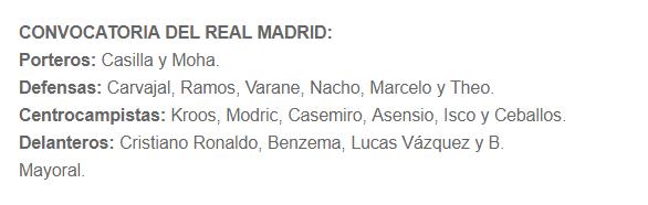 ATLÉTICO - REAL MADRID Conv11