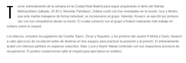 ATLÉTICO - REAL MADRID Entre10
