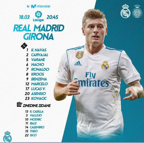 REAL MADRID - GIRONA Once12