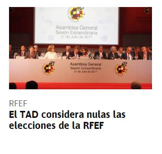 Empieza a salir la corrupción de la RFEF Tad10