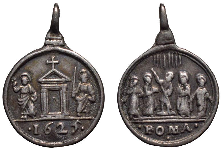Puerta Santa, S. Pedro y S. Pablo, 1625 / Cinco Santos canonizados en 1622  (R.M.SXVII-C108)  C-01510