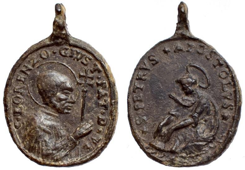 San Lorenzo Justiniano / San Pedro apóstol , S. XVIII (R.M. SXVIII-O371) O-236010