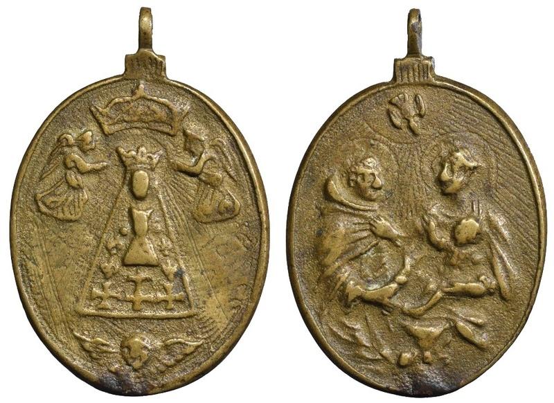 Virgen de Liesse (Francia) / Entrega del rosario a S. Domingo de Guzmán (R.M. SVII-O478) O-282a11
