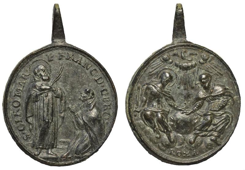 San Ciro mártir y Padre Francisco de Gerónimo - SS. Trinidad , S. XVIII (R.M. S.XVIII-O383) O-323011